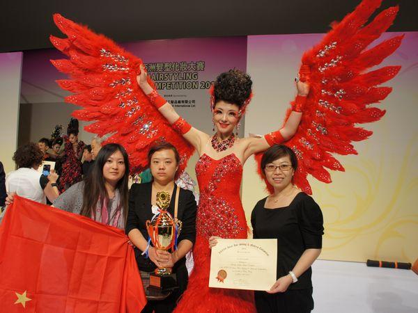 本校选手蝉联36届亚洲化妆美甲大赛形象设计组冠军图片