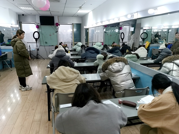 2020年首次美容师职业资格鉴定在我校举行
