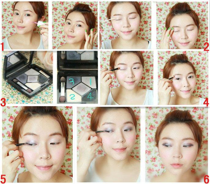 江苏化妆培训:超级魅惑深蓝烟熏妆教程