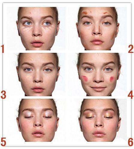 八大步骤教你如何快速化妆
