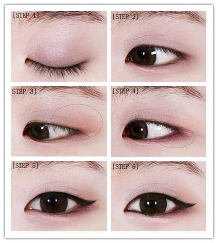 单眼皮眼线化妆技巧 简单几笔勾勒精致双眼